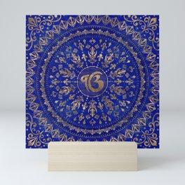 Ek Onkar / Ik Onkar Lapis Lazuli and Gold Mini Art Print