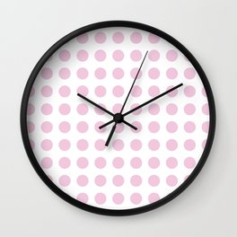 Simply Polka Dots in Blush Pink Wall Clock