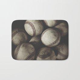 Grungy Baseballs on a Shelf Bath Mat