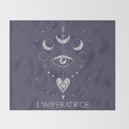 L'Imperatrice or L'Empress Tarot Throw Blanket