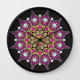 Purple mandala dotted Wall Clock