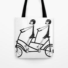 tandem bicycle Tote Bag