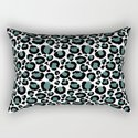 Teal Leopard Animal Print Pattern by nlmiller07art