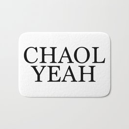 Chaol Yeah White Bath Mat