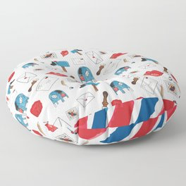 Sealed With A Kiss Floor Pillow