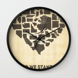 United we stand - Vintage  Wall Clock