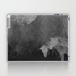 Moon with Horses in Grays Laptop & iPad Skin