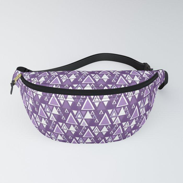 Purple and white modern trendy geometric pattern Fanny Pack