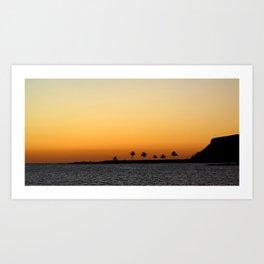 Sunset at the Paradise Art Print