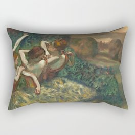 Edgar Degas - Four Dancers, 1889 Rectangular Pillow
