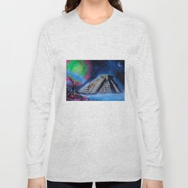 Mayan World By The Sea Long Sleeve T-shirt