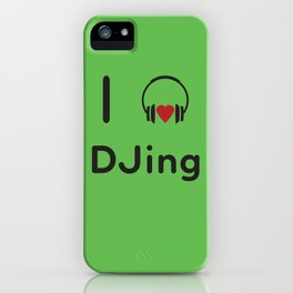 I heart DJing iPhone Case