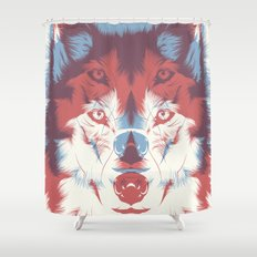 WOLF 3D Shower Curtain