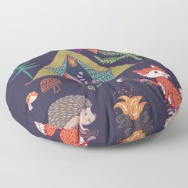Racoon's Campout Floor Pillow