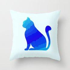 ICE CAT Throw Pillow