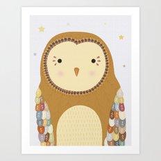 Autumn the Owl Art Print