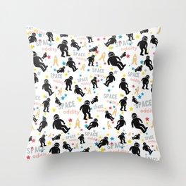 Space oddity astronaut pattern Throw Pillow