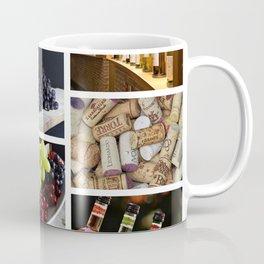 Home Bar Decor - Wine Vineyard Collage Coffee Mug
