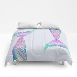 mermaid tail (purple & green) Comforters