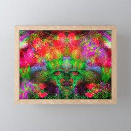 The Flower King Framed Mini Art Print