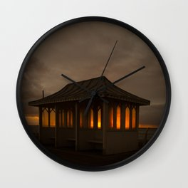 Pier Shelter Sunrise Wall Clock