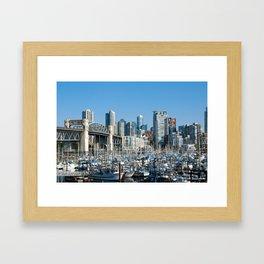 Vancouver Skyline From Harbor Framed Art Print