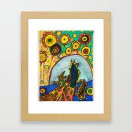 Procession (in color) Framed Art Print