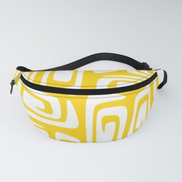 Mid Century Modern Cosmic Abstract 612 Yellow Fanny Pack