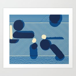 Saltwater Sunset Art Print