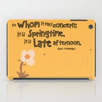 vonnegut iPad Cases featuring Springtime by GiantEvilPizza