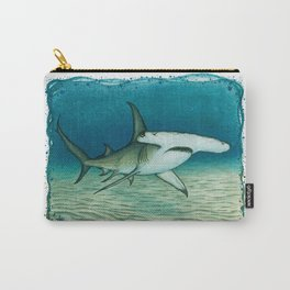"""""""Great Hammerhead Shark"""" by Amber Marine ~ Watercolor Painting, (Copyright 2016) Carry-All Pouch"""