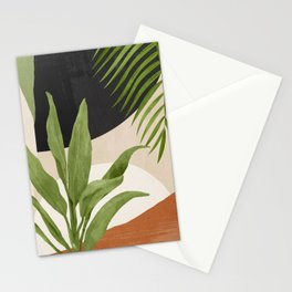 Abstract Art Tropical Leaf 11 Stationery Cards