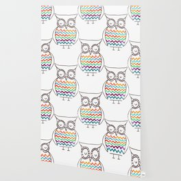 Chevron Owl Wallpaper