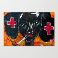 nurse Canvas Prints featuring Nurse by C Z A V E L L E