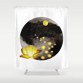 Vietnam Flower Lanterns Hoai River Hoi An ancient town Shower Curtain