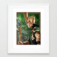 loki Framed Art Prints featuring Loki by Natalie Nardozza
