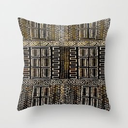 Mud Cloth Painting Throw Pillow