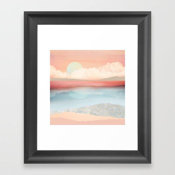 Mint Moon Beach Gerahmter Kunstdruck