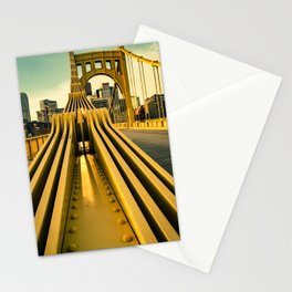 Pittsburgh Clemente Bridge Detail City Print Stationery Cards