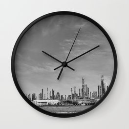 Oil refinery #blackwhite Wall Clock