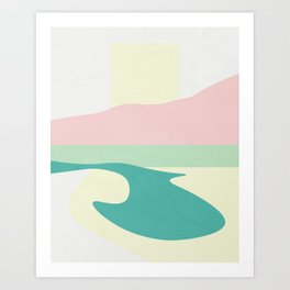 Color and Shape - Yellowstone National Park Art Print