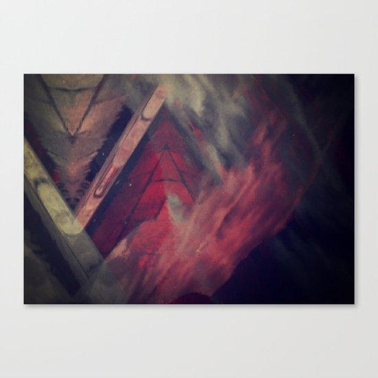 Pyramid Ablaze  Canvas Print