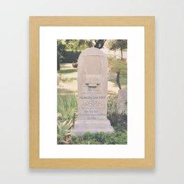 Here Lies John Keats Framed Art Print