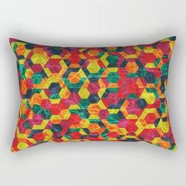 Colorful Half Hexagons Pattern #08 Rectangular Pillow