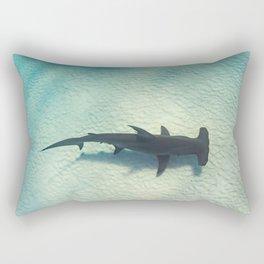 Shark on the Moon Rectangular Pillow