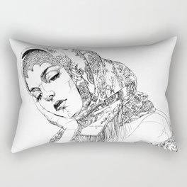 Strong, beautiful, deep, sad. Russian. Yury Fadeev Rectangular Pillow