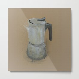 Moka Pot -  These are the things I use to define myself Metal Print