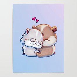 Hamsters HamHams Huggy Hugs Poster
