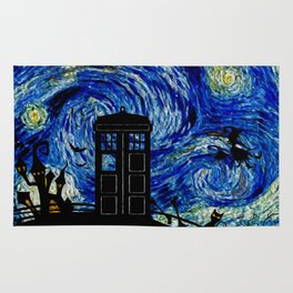 Starry Night at Halloween Rug