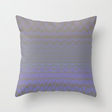 Subtle Wavy Purple and Grey Chevron Heartbeat Pattern Throw Pillow
